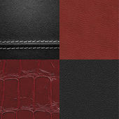 Leather texture set — Stock Photo