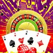Abstract casino illustration - Stockfoto