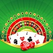 Abstract background with gambling elements — Stock Photo #5272662