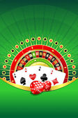 Abstract background with gambling elements — Stock Photo
