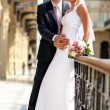 Young wedding couple — Foto de stock #4697983