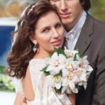 Портрет молодой свадьба пара — Стоковое фото
