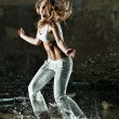 Young woman dancing — Stock Photo #4698052