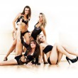 Four young sexy women — Stock Photo