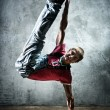 Young man break dance — Stock Photo