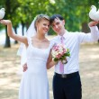 Young wedding couple — Foto de Stock