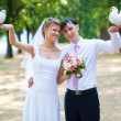 Young wedding couple — Stock Photo #4698242