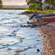 Lake bank with boats — Stock Photo #4698253