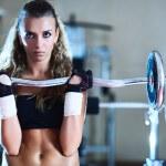Weight training — Stock Photo