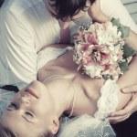 Hochzeit paar portrait — Stockfoto