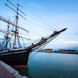 Sailing vessel in port - Stock Photo