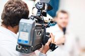Camarógrafo en el trabajo — Foto de Stock