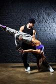 Dancer couple — Stock Photo