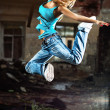 Young woman dancing — Stock Photo #5040393