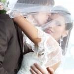 Young wedding couple portrait — Stock Photo