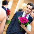 Young wedding couple — Stock Photo #5040422