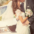 Young wedding couple portrait - Stock Photo