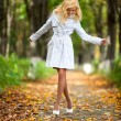 Young woman walking — Stock Photo #5040437