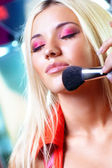 Young woman makeup — Stock Photo