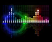 Analizador de espectro de la onda acústica música — Vector de stock