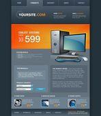 Desktop Computer Shop Web Template — Stock Vector