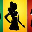 Stock Vector: Ladies silhouette