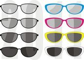 Glasses collection - a fashion, sports, beauty — Stockvector