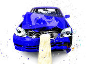 Damage of the car — Stock Photo