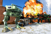 Combat robot — Stock Photo