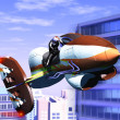 Air motorcycle - Stock Photo