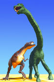 Hunt dinosaur — Stockfoto
