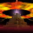 Explosion of pyramid — Stock Photo