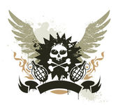 Grunge gang design — Stock Vector