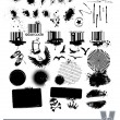 Set of dirty grunge elements - Stock Vector
