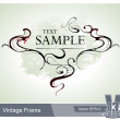 Cool vintage frame - Stock Vector
