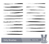 Set of dirty grunge brushes — Stock Vector