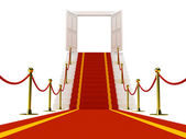 Stair with red carpet — Stock Photo