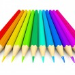 Colour pencils over white background — Zdjęcie stockowe