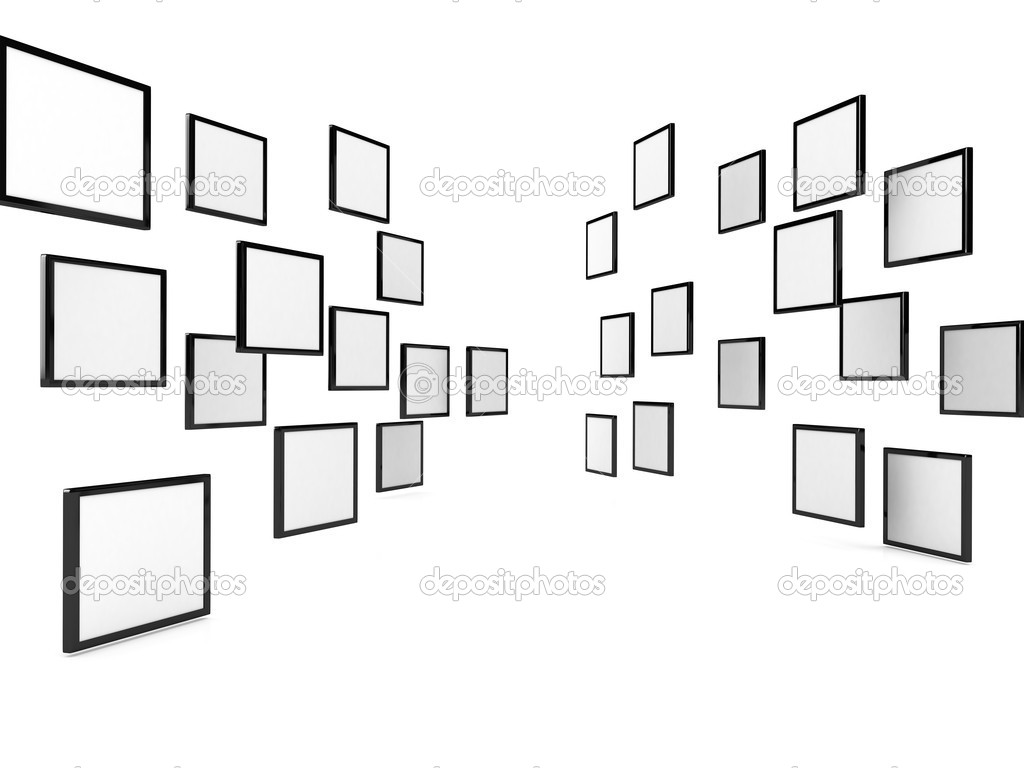 3d blank posters over white, Computer generated image  Stock Photo #4307116