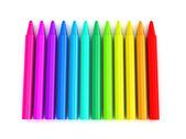 Lápices de color sobre fondo blanco — Foto de Stock