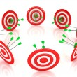 3d target with arrows over white background — Stock Photo