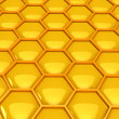 Gold honeycombs - Stock Photo