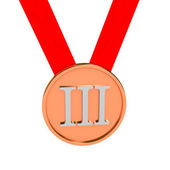 Medal over white background — Stock Photo