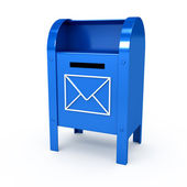 Metal color mailbox over white background — Stock Photo