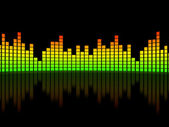 Equalizer over black background — Stock Photo