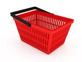 Shopping basket over white background — Stok fotoğraf