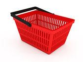 Beyaz arka plan üzerinde alışveriş sepeti — Stok fotoğraf