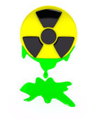 Radiation sign over white background — Stock Photo
