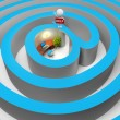 Royalty-Free Stock Photo: 3d small - internet a labyrinth
