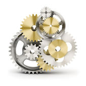 Mechanism from gears — Stock Photo